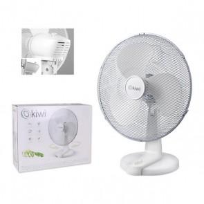 Ventilatore da Tavolo Kiwi KFAN-7615 Ø 40 cm 45W Bianco