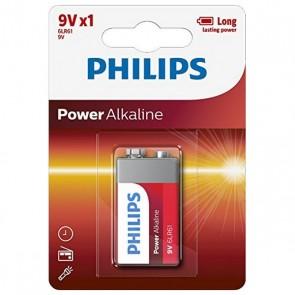 Batteria Alcalina Philips 6LR61 9V