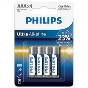 Batterie Alcaline Philips LR03 AAA LR03 (4 pcs)