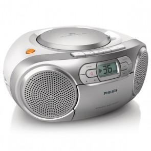 Radio Cassetta Philips AZ127/12 FM 2W Argentato