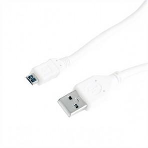 Cavo USB 2.0 A con Micro USB B GEMBIRD CCP-mUSB2-AMBM-W-0.5 (0,5 m) Bianco