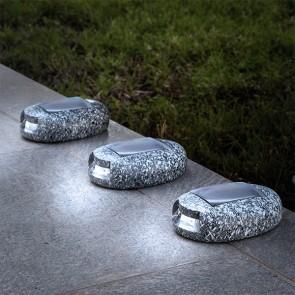 Pietra LED ad energia solare Garden (Pacco da 3)