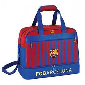 Borsa Sportiva con Portascarpe Safta FC Barcelona Azzurro Rosso granato