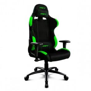 Sedia Gaming DRIFT DR100BG 90-160º Stoffa Spumă Nero Verde