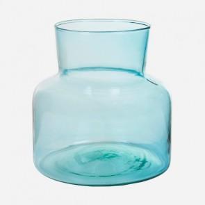Vaso in Vetro Riciclato Azzurro - Pure Crystal Deco Collezione