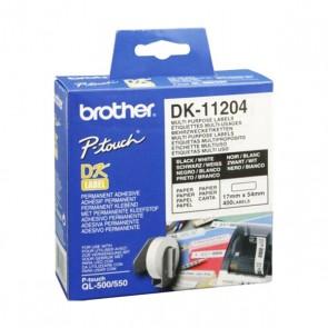 Etichette per Stampante Multiuso Brother DK11204 17 x 54 mm Bianco