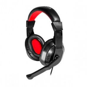 Auricolari con Microfono Gaming Mars Gaming MRH0 Nero Rosso