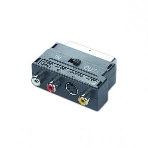 Adattatore Bidirezionale SCART con RCA/S-Video GEMBIRD CCV-4415 Nero