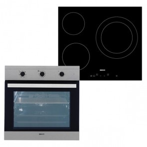 Set di Forno e Piano cottura in Vetroceramica BEKO BSE22120X 65 L TouchControl Inox