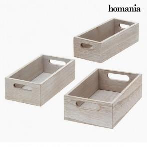 Set di Scatole Decorative Homania 0290 (3 pcs) Grigio