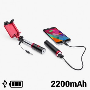 Selfie stick con Power Bank 2200 mAh 145200