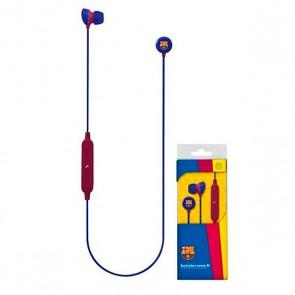 Auricolare Bluetooth Sportivo con Microfono F.C. Barcelona Azzurro