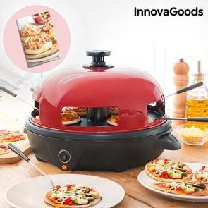 Forno per Mini Pizze con Ricettario Presto! InnovaGoods 700W Rosso Nero