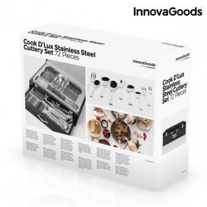 Servizio di Posate in Acciaio Inossidabile Cook D'Lux InnovaGoods (72 Pezzi)