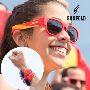Occhiali da Sole Arrotolabili Sunfold Mundial Spain Red