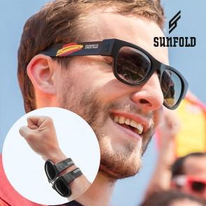 Occhiali da Sole Arrotolabili Sunfold Mundial Spain Black