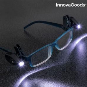 Clip LED per Occhiali 360° InnovaGoods (Pacco da 2)