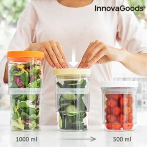 Contenitori da Cucina Regolabili ed Ermetici InnovaGoods (Set da 3)