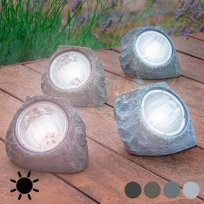 Pietra Artificiale ad Energia Solare (4 LED)