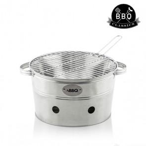 Barbecue Portatile a Carbone Secchio di Metallo BBQ Classics