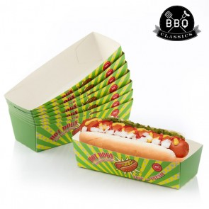 Set di Scatole per Hot Dog BBQ Classics (Pacco da 8)