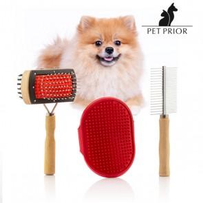 Set di Spazzole per Cani Collection Pet Prior (3 Pezzi)