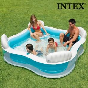 Piscina Gonfiabile Familiare Summer con Sedili Intex