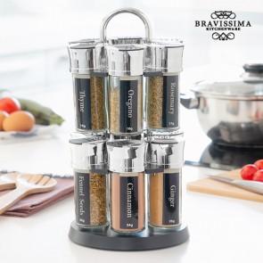 Portaspezie con 12 Spezie Bravissima Kitchen