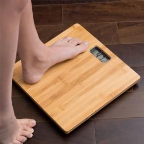 Bilancia Digitale da Bagno in Bambù 180 kg