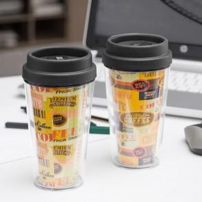 Bicchiere con Coperchio e Doppia Parete Coffee