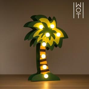 Palma decorativa di Legno Wagon Trend (8 LED)