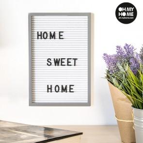 Quadro per Lettere e Numeri Oh My Home (16 x 22 cm)