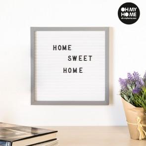 Quadro per Lettere e Numeri Oh My Home (30 x 30 cm)