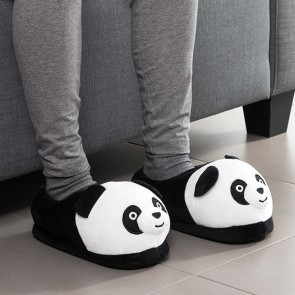 Pantofole Morbide Panda