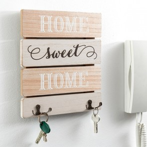 Portachiavi da Parete di Legno Sweet Home