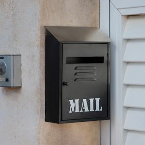 Cassetta per Posta in Metallo Nera Mail