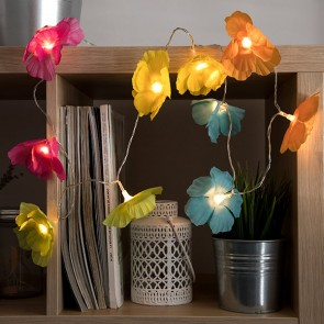 Ghirlanda LED di Fiori Multicolori (10 LED)