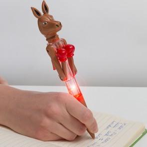 Penna con LED Canguro Pugile