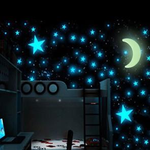 Luna e Stelle Fluorescenti Universe (15 Pezzi)