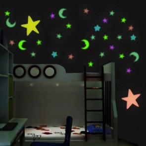 Luna e Stelle Fluorescenti Multicolor (15 Pezzi)