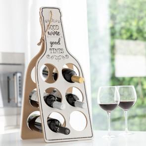 Portabottiglie Pieghevole in Legno Good Wine