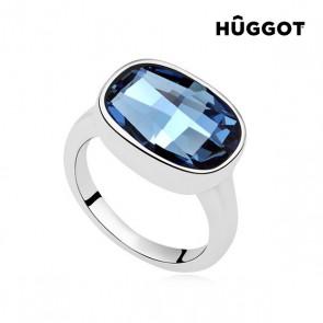Anello Placcato in Rodio I´m Blue Hûggot Realizzato con Cristalli Swarovski®
