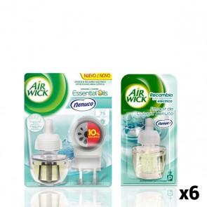 Pacco Diffusore Elettrico per Ambienti + 6 Ricambi Air Wick Nenuco