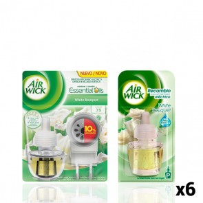 Pacco Diffusore Elettrico per Ambenti + 6 Ricambi Air Wick White Bouquet