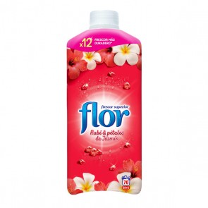 Ammorbidente Concentrato Flor Red Rubino e Petali di Gelsomino 1,5 L (70 Lavaggi)