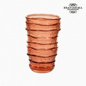 Bicchiere in Vetro Riciclato Corallo (8 x 8 x 13 cm) by Bravissima Kitchen