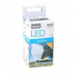 Lampadina LED Sferica Omega E14 4W 320 lm 4200 K Luce Naturale