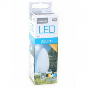 Lampadina LED Candela Omega E14 4W 320 lm 4200 K Luce Naturale