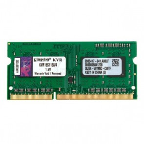 Memoria RAM Kingston IMEMD30096 KVR16S11S8/4 4 GB 1600 MHz DDR3-PC3-12800