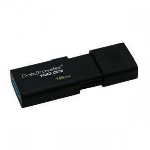 Pendrive Kingston DT100G3 16 GB USB 3.0 Nero